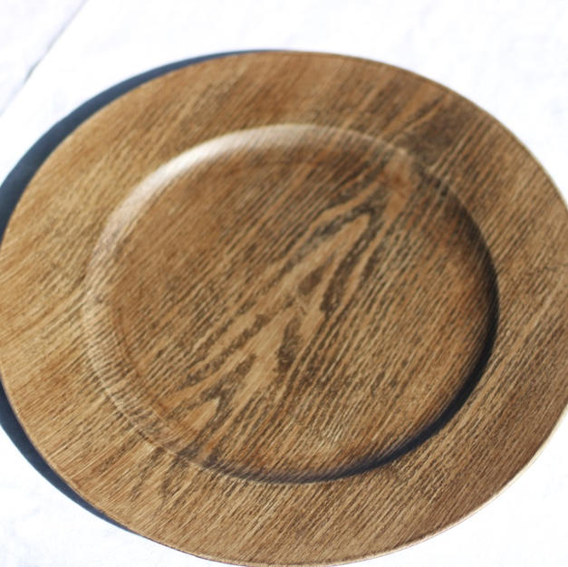 Faux Wood Chargers