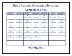 September bible challenge