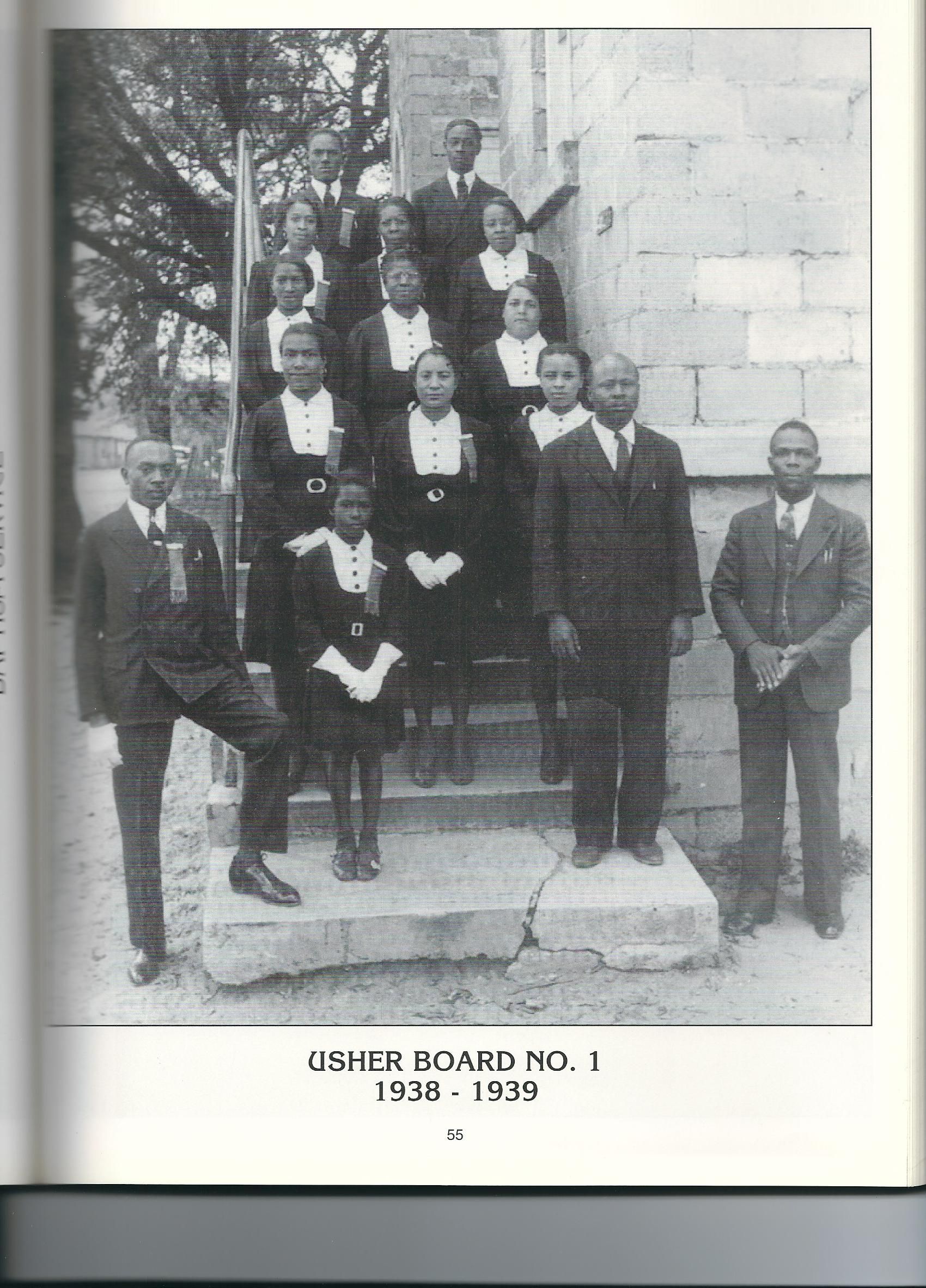 Usher Board No. 1 1938-1939