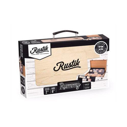 RUSTIK - Rummy avec Valise en bois