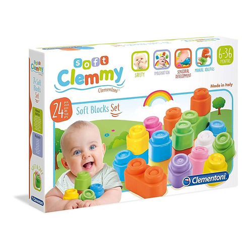 Baby Clementoni - Clemmy Soft blocks set 24pcs