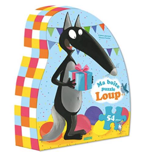 54 pcs - Ma boîte puzzle Loup - Anniversaire