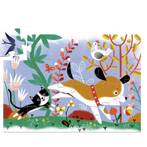 Djeco - 24 pcs Puzzle silhouette - Firmin petit chien