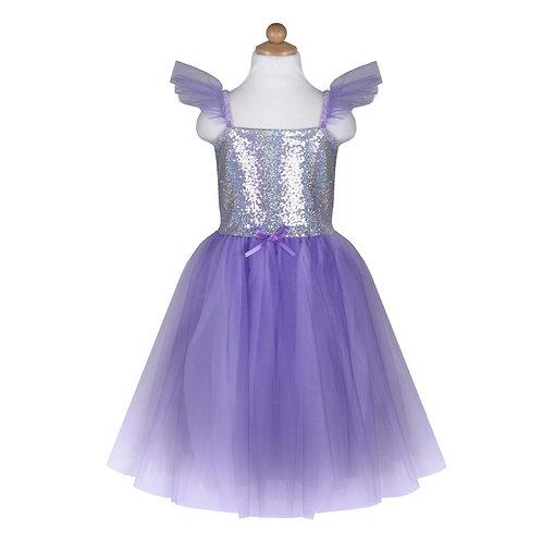 Robe de princesses sequins mauve 5-6 ans