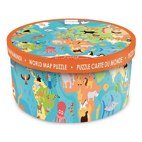 100 pièces - Scratch - Puzzle Animaux du monde XXL