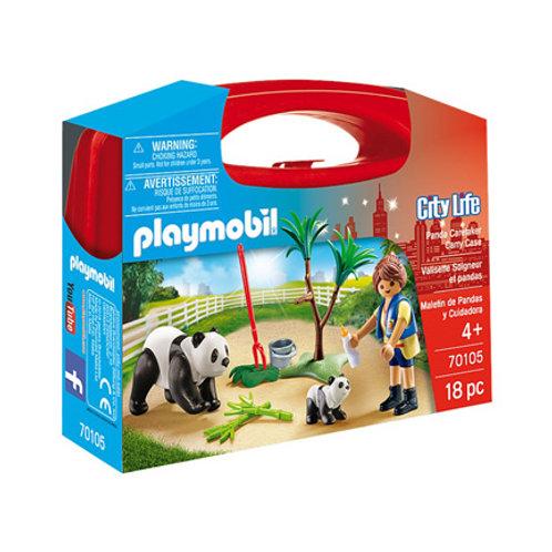 PLAYMOBIL - City Life - Valisette Soigneur et pandas