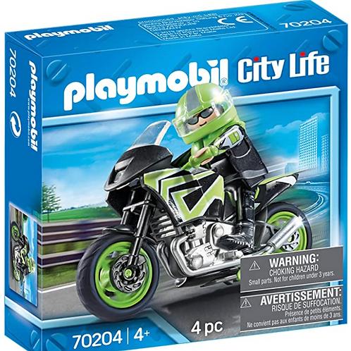 PLAYMOBIL - City Life - Pilote et moto