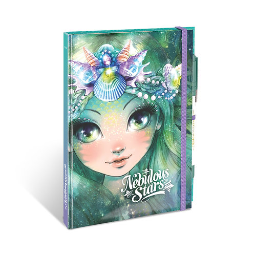 NEBULOUS STARS - Cahier de notes Blanc de luxe reliure Verte