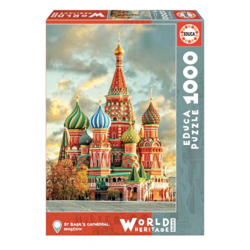 1000 pcs - Cathédrale de Saint-Basile, Moscou - Educa