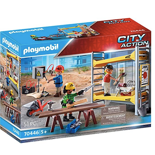 PLAYMOBIL - City Action - Ouvriers avec échafaudage