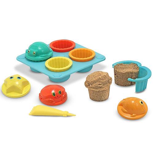 Moules à petits gâteaux pour le sable