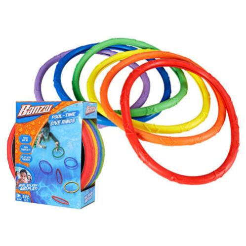 Banzai - Ensemble de 6 anneaux pour la piscine