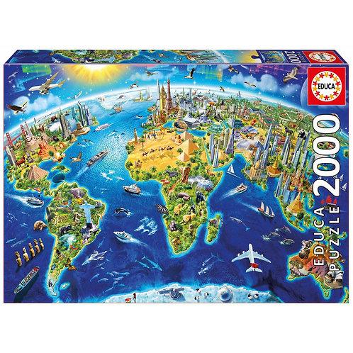 2000 pcs - Symboles du monde - Educa