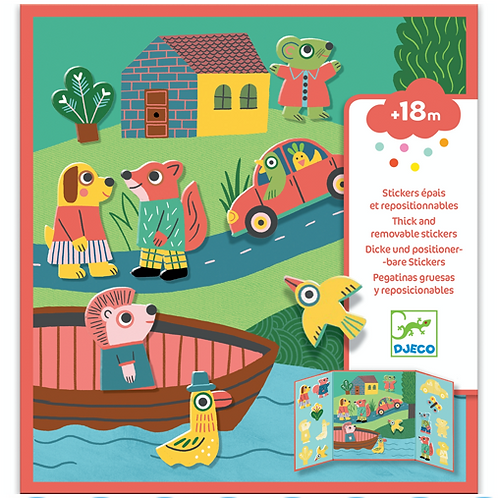 Djeco - Stickers - Les animaux