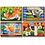 Thumbnail: 12 pcs - 4 puzzles de bois dans une boîte - Animaux de compagnies