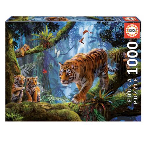 1000 pcs - Tigres sur l'arbre - Educa