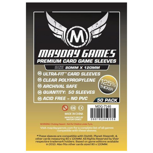 Sleeves - 80 x 120 - Mayday Games - Magnum Gold Premium (50)