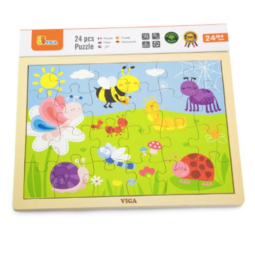 24 pcs - Puzzle de bois Insectes