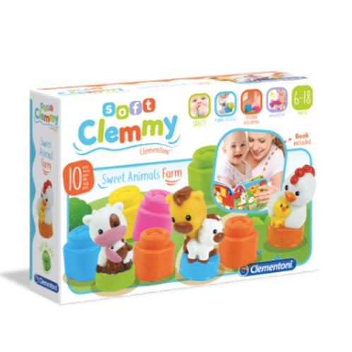 Baby Clementoni - Clemmy Soft blocks de la ferme avec Livre
