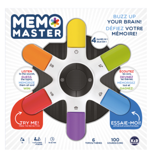 Memo Master le Jeu Version Bilingue