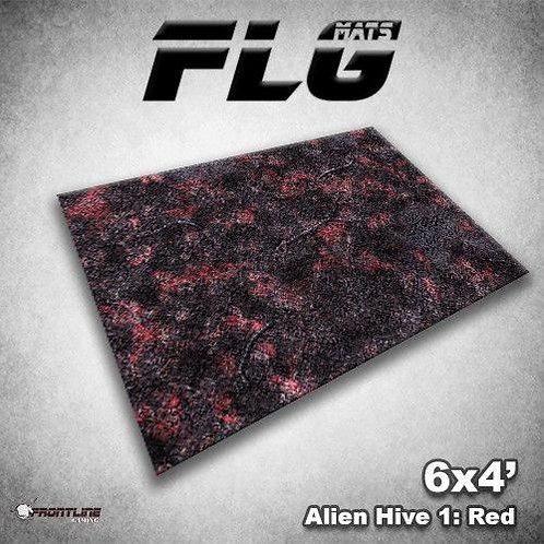 PLAYMAT - FLG Alien Hive Red 6'x4'