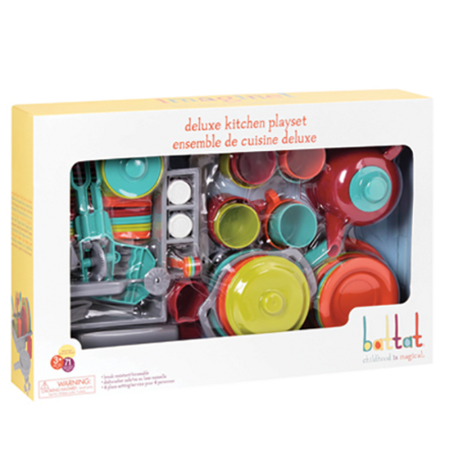 Battat - Ensemble de vaisselle de luxe 71 pièces