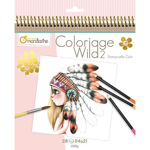 Avenue Mandarine - Carnet de coloriage collector Wild 2