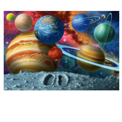 24 Pcs - À la découverte de l'espace - XXL de plancher