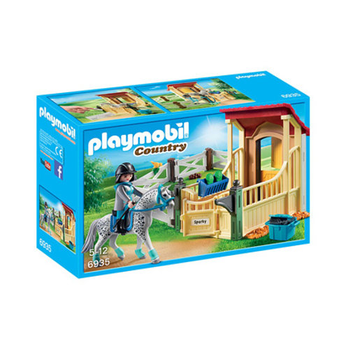 PLAYMOBIL - Country - Box avec cavalière et cheval Appaloosa
