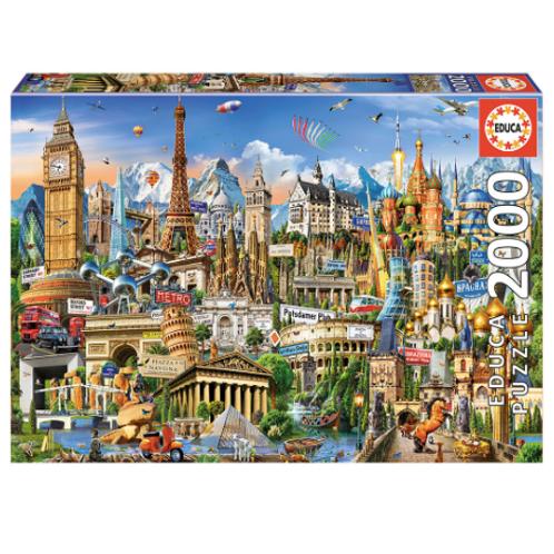 2000pcs - Symboles d'Europe - Educa