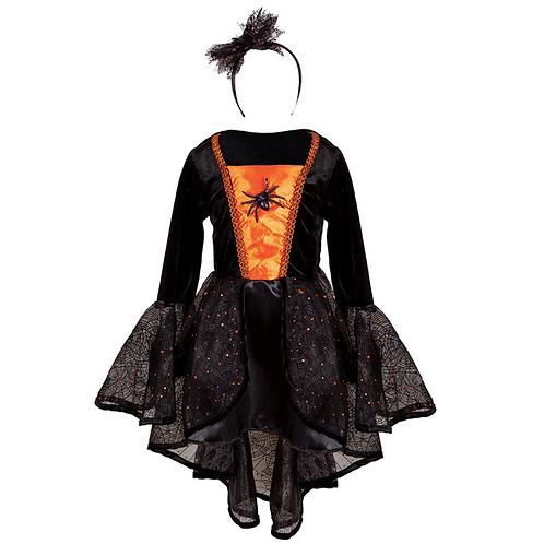 Robe sorcière des araignées 5-6 ans