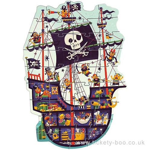 Djeco -36 pcs Puzzle géant - Le bateau de pirates