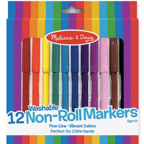 12 crayons marqueurs lavable