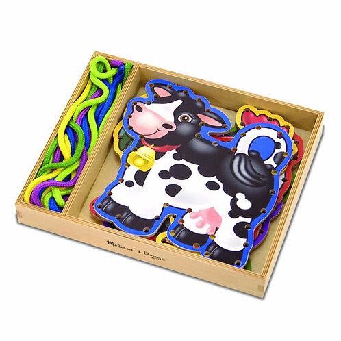 Panneaux en bois à lacer - animaux de la ferme