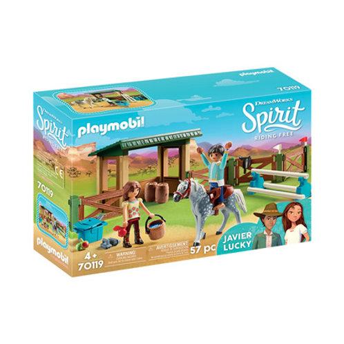 PLAYMOBIL - Spirit - Espace d'entrainement avec Javier et Lucky