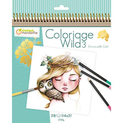 Avenue Mandarine - Carnet de coloriage collector Wild 3