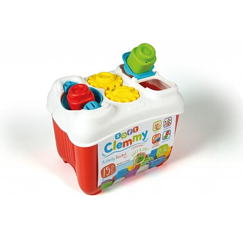 Baby Clementoni - Clemmy Soft blocks - Seau d'activités
