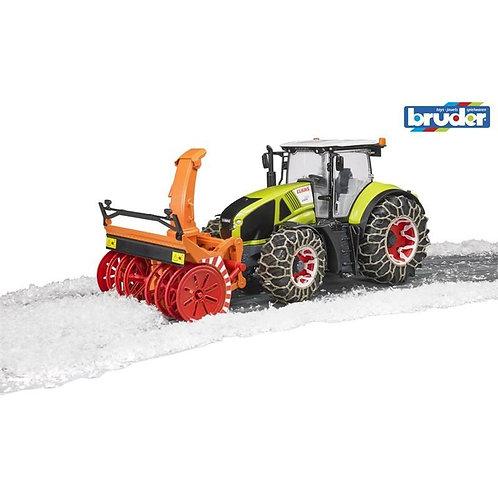 BRUDER - Tracteur Claas Axion 950 avec souffleur à neige