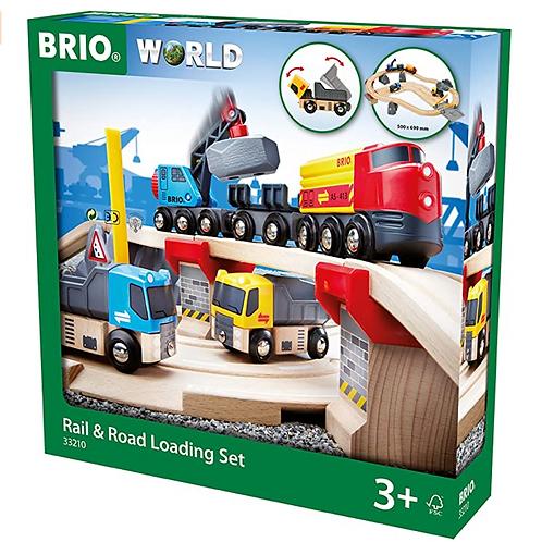 Brio - Circuit rail et route transport de roches