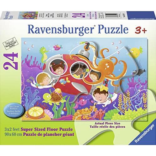 24 pcs Plongé entre amis Puzzle de plancher Géant XXL