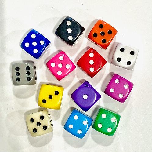 Chessex - Dé à jouer classique de 16mm de couleur mat à l'unité