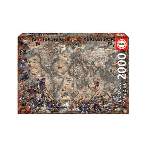 2000 pcs - Carte des Pirates - Educa
