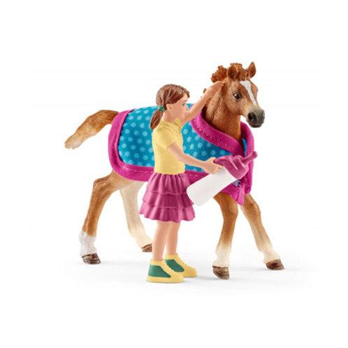 Schleich - Horse Club - Poulain avec couverture
