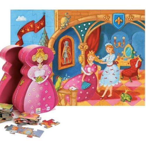 Djeco - Puzzle 36 pcs - Silhouette -  La princesse et la grenouille