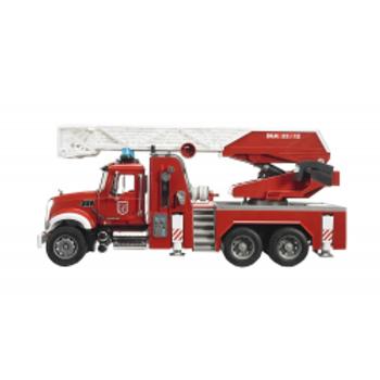 BRUDER - Mack Granite grande échelle de pompiers avec accessoires