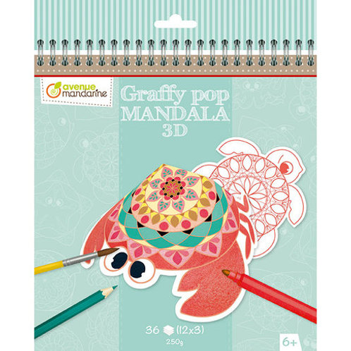Avenue Mandarine - Graffy Pop Mandala 3D