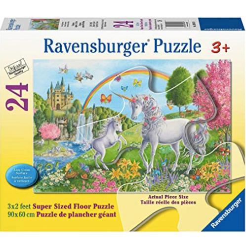 24 pcs Licornes dansantes Puzzle de plancher Géant XXL