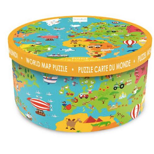 150 pièces - Scratch - Puzzle Carte du monde XXL