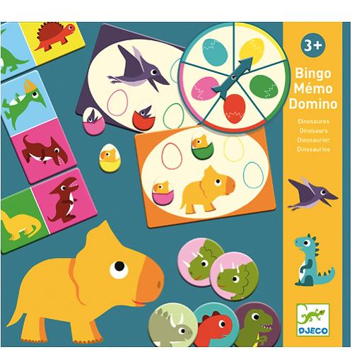 Djeco - Bingo Memo Domino - Dinosaures