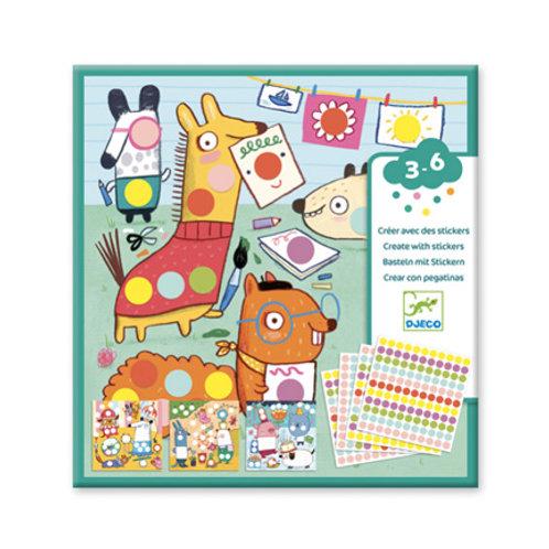 Djeco - Stickers - Avec des gommettes rondes